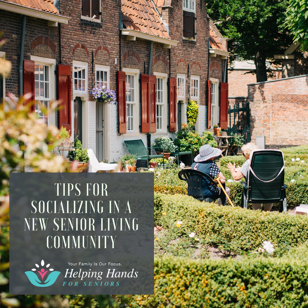 Socializing in a New Senior Living Community